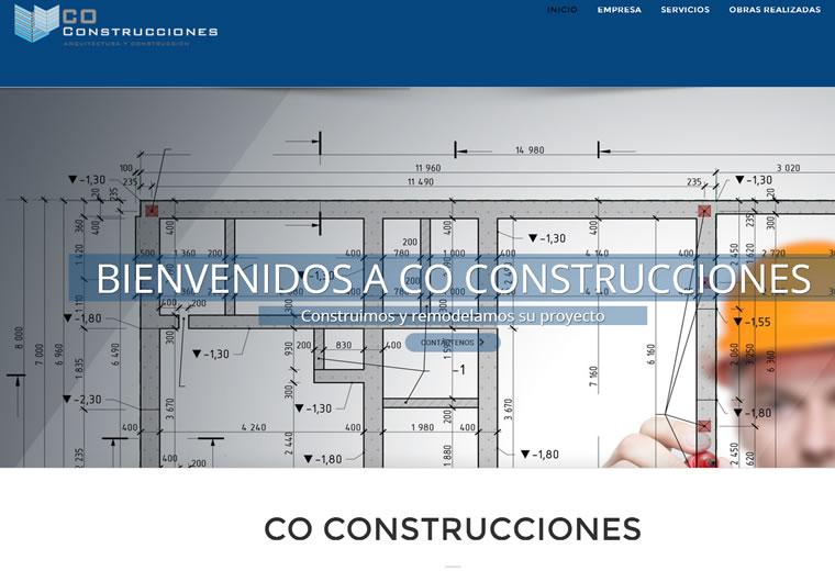 Diseño web Construcciones