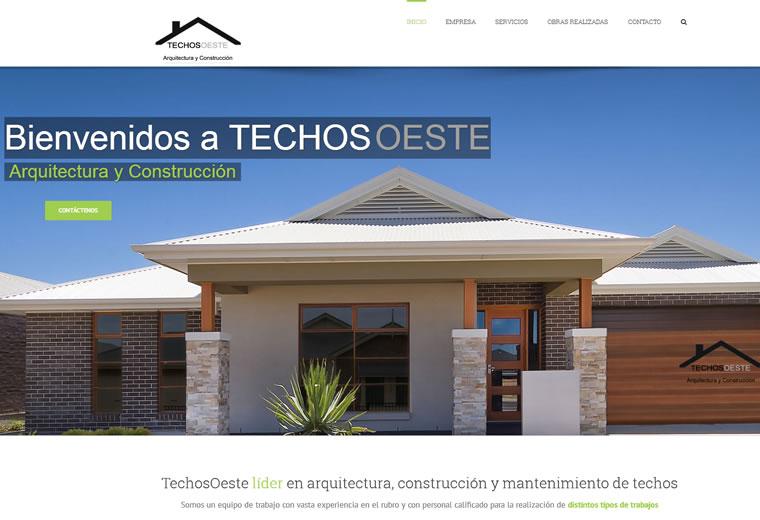 Diseño web Techos-oeste