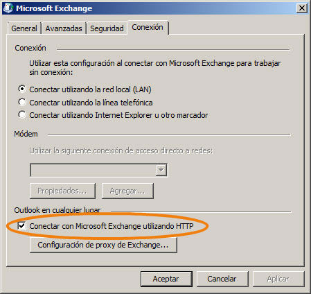 Exchange en Outlook 2010 5