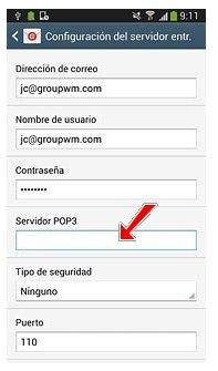 Configurar cuenta de email
