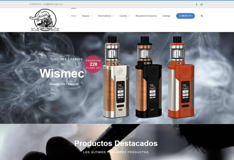 Diseño web productos