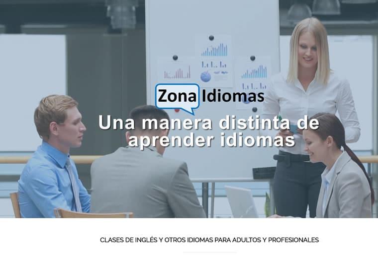 Diseño web y Posicionamiento Zona idiomas