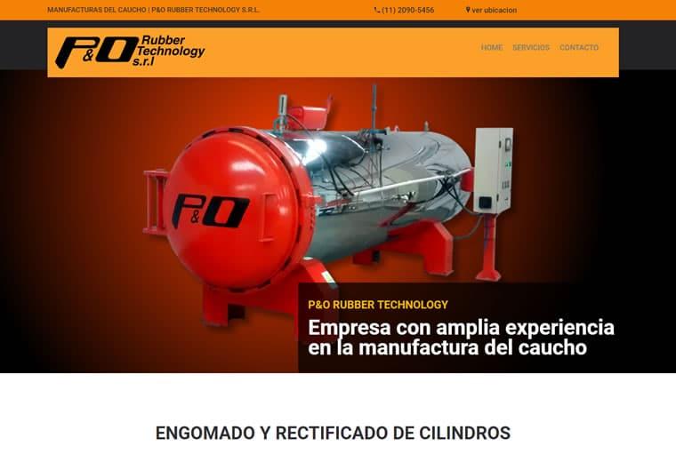 Diseño web P&O Rubber