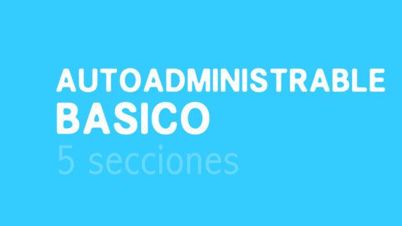Plan diseño web Autoadministrable básico