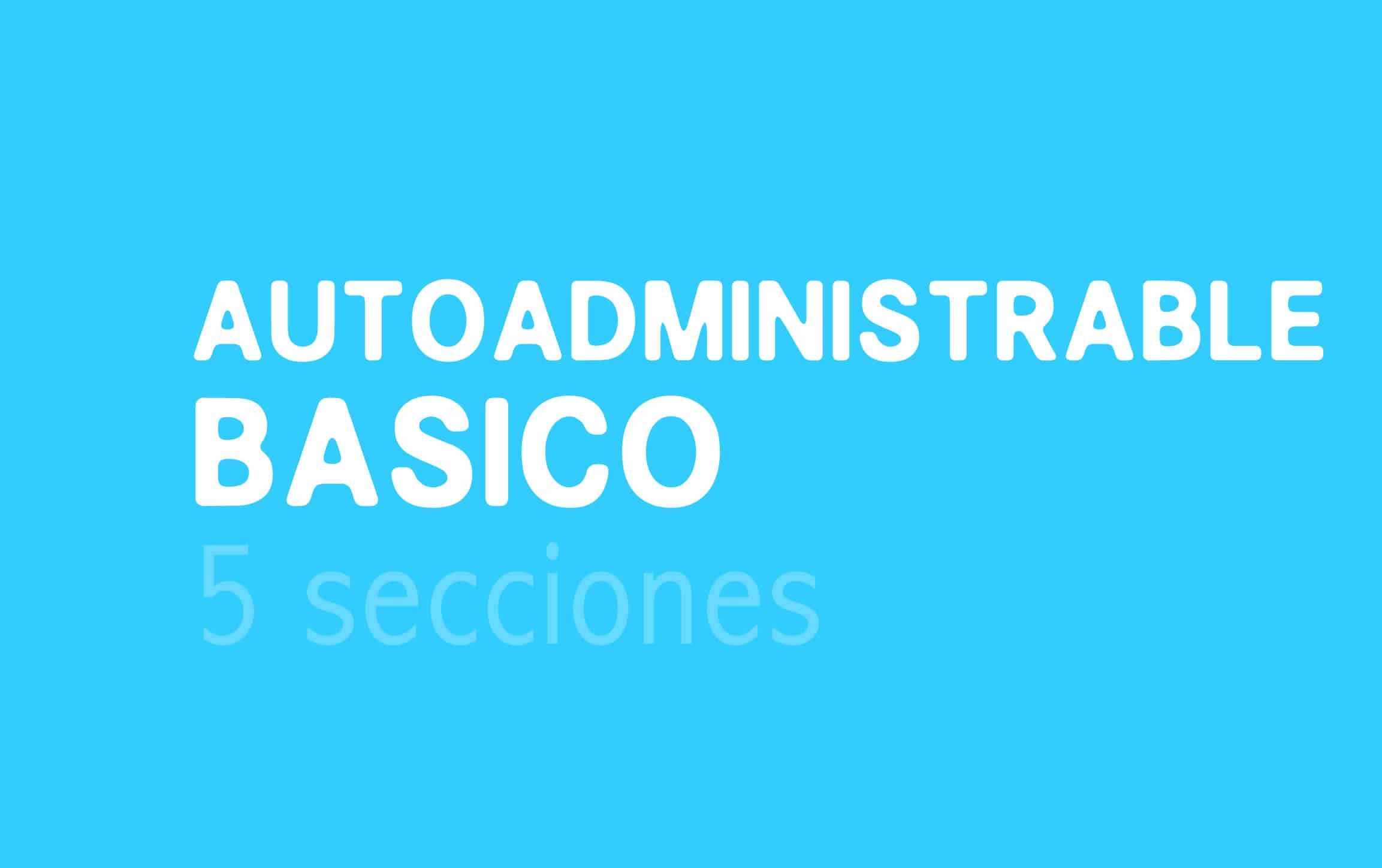 Plan de diseño web Autoadministrable básico